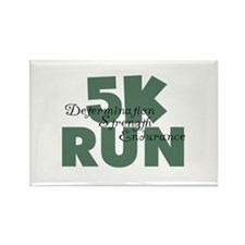 5K Run Teal Green Rectangle Magnet (10 pack)