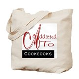 Addicted To Cookbooks Tote Bag