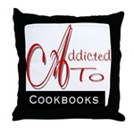 Addicted To Cookbooks Throw Pillow