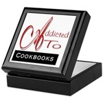 Addicted To Cookbooks Keepsake Box