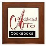 Addicted To Cookbooks Framed Tile
