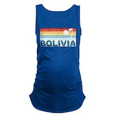 Retro Bolivia Palm Tree Maternity Tank Top