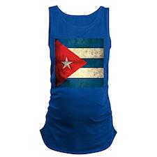 Grunge Cuba Flag Maternity Tank Top