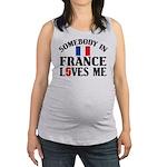 Somebody In France Maternity Tank Top