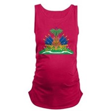 Haiti Coat Of Arms Maternity Tank Top