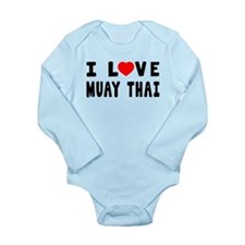 I Love Muay Thai Long Sleeve Infant Bodysuit