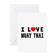 I Love Muay Thai Greeting Card