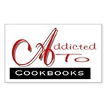 Addicted To Cookbooks Rectangle Sticker