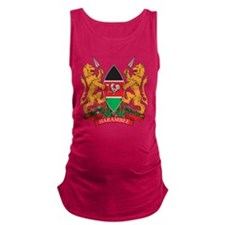 Kenya Coat of Arms Maternity Tank Top