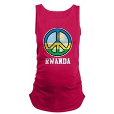 Peace In Rwanda Maternity Tank Top