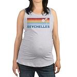 Retro Palm Tree Seychelles Maternity Tank Top