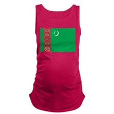 Turkmenistan Flag Maternity Tank Top