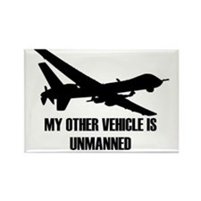 my other vehicle is unmanned 2 Rectangle Magnet
