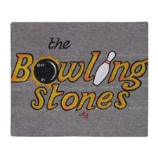 The Bowling Stones Throw Blanket