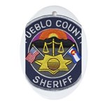 Pueblo Sheriff Oval Ornament