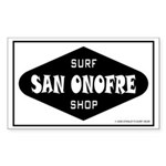 San Onofre Surfshop Rectangle Sticker