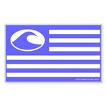 Surf Nation Blue Rectangle Sticker