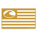 Surf Nation Brown Rectangle Sticker