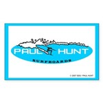 Paul Hunt Surfboards Rectangle Sticker
