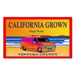 CALIFORNIA GROWN Rectangle Sticker