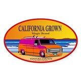 CALIFORNIA GROWN Oval Decal