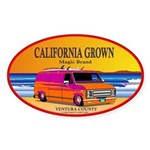 CALIFORNIA GROWN Oval Sticker