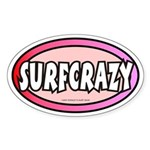Surfcrazy Oval Sticker