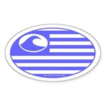 Surf Nation Oval Sticker