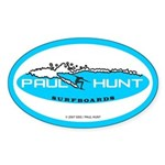 Paul Hunt Surfboards Oval Sticker