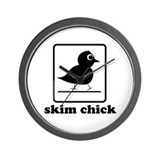 skim chick Wall Clock