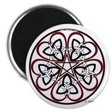 "Celtic Heart Pentacle3 2.25"" Magnet (10 pack)"