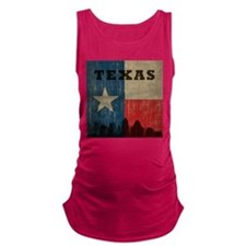 Vintage Texas Skyline Maternity Tank Top