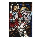 Holy Family Stained Glass Postcards (Package of 8)