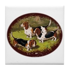Basset Hounds Tile Coaster