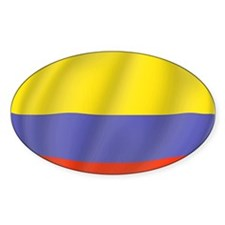 Pure Flag of Colombia Oval Decal