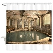 Circular Roman Bath Shower Curtain