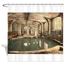 Circular Roman Bath Shower Curtain