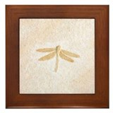 Dragonfly Fossil Light Art Framed Tile