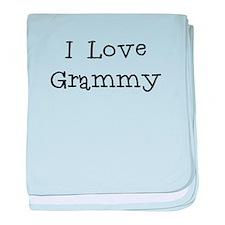 I Love Grammy baby blanket