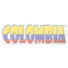 Word Art Flag of Colombia Bumper Bumper Sticker