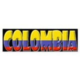 Word Art Flag of Colombia Bumper Stickers