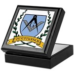Masonic Freemason Crest Keepsake Box