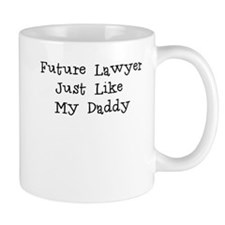 Future Lawyer Like Daddy Small Mug