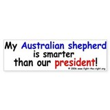 Aussies are smart -- Bumper Car Sticker