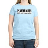 Playwrights do it with Imagin Women's Pink T-Shirt
