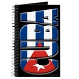 Word Art Flag of Cuba Journal