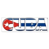 Word Art Flag of Cuba Bumper Bumper Sticker