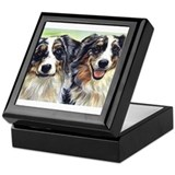 Unique Australian shepherd Keepsake Box