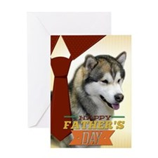 Malamute Fathers Day Card