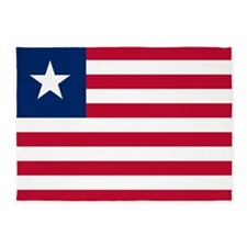 Flag of Liberia 5'x7'Area Rug